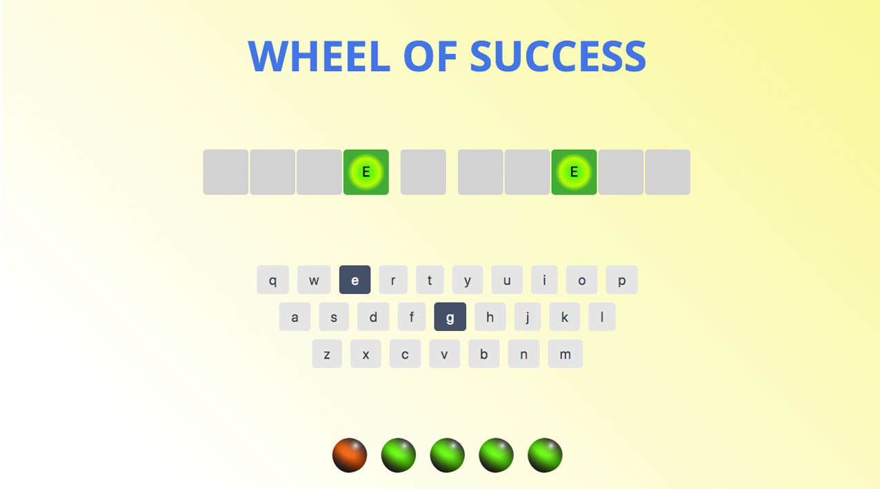 Screenshot of Game Show Project